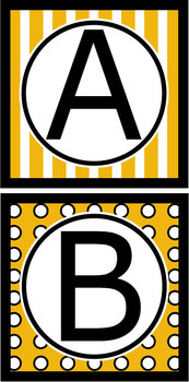 Capital Letters Set - Black & Gold