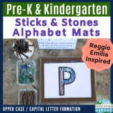 Capital Letters: Recognition and Formation {Sticks and Stones} Alphabet Mats