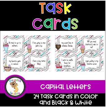 Capital Letters Task Cards