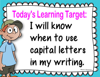 Capital Letters Power Point, Posters and Activities