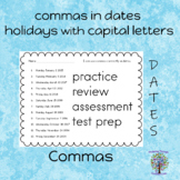 Capital Letters and Commas (practice, review, test prep, a