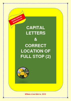 Capital Letters and Correct Location of Full Stop (2)