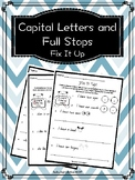 Capital Letters and Full Stops- Prep and Grade 1