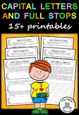 Capital Letters and Full Stops worksheets - Literacy - 15+ printables