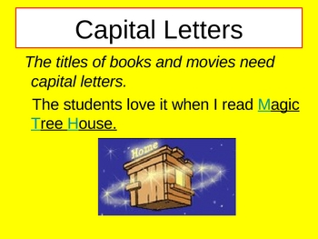 Capital Letters and Punctuation Marks Power Point Presentation