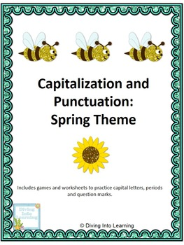 Capital Letters and Punctuation Packet: Spring Theme