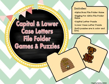 Capital & Lower Case Letters File Folder Games & Puzzles