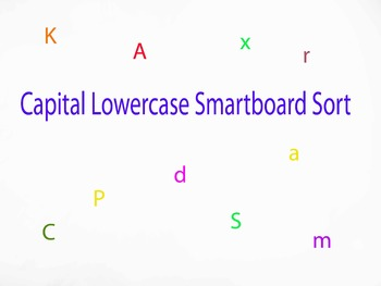 Capital Lowercase smartboard sort
