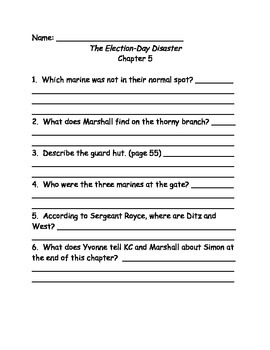 Capital Mysteries #10 The Election Day Disaster comprehension questions
