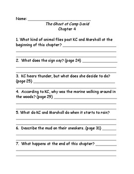 Capital Mysteries #12 The Ghost at Camp David comprehension questions