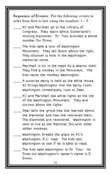 Capital Mysteries #8: Mystery at the Washington Monument (Ron Roy) Novel Study