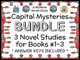 Capital Mysteries BUNDLE (Ron Roy) 3 Novel Studies for Books #1-3  (78 pages)