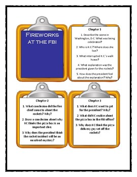 Capital Mysteries FIREWORKS AT THE FBI - Discussion Cards (Distance Learning)