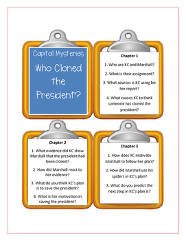 Capital Mysteries WHO CLONED THE PRESIDENT? - Discussion Cards