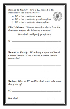 Capital Mysteries: Who Broke Lincoln's Thumb? (Roy) Novel Study / Comprehension