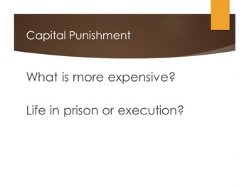 Capital Punishment Statistics and Arguments