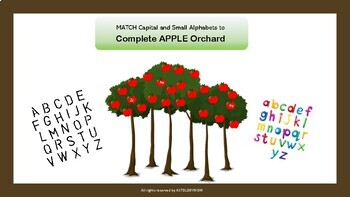 Capital Small English Alphabet Apples - Cut n Paste the Apples