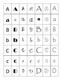 Capital and Lower Case Font Sort
