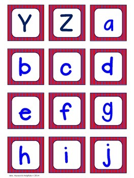 Capital and Lower Case Letter Matching Cards
