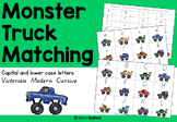 Lower case and capital letter matching activity - Monster Trucks