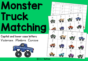 Monster Truck Matching with lower case and capital letters