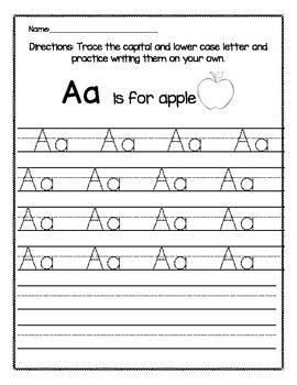 capital and lower case letter trace aa zz by kindergarten busy bees. Black Bedroom Furniture Sets. Home Design Ideas