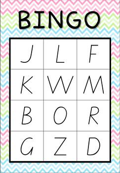 Capital and Lowercase Bingo #betterthanchocolate