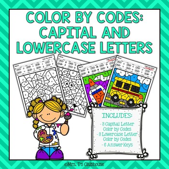 Capital and Lowercase Letter Color by Codes