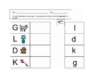 Capital and Lowercase Letter Matching