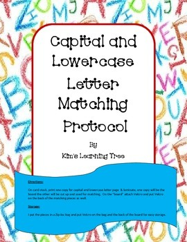 Capital and Lowercase Letter Matching Protocol
