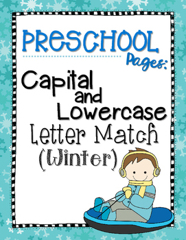 Capital and Lowercase Letter Match {Winter}