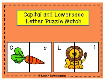 Capital and Lowercase Letter Puzzle Match