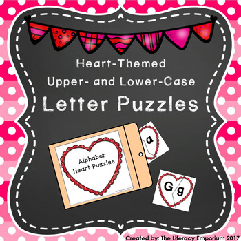 Capital and Lowercase Letter Puzzles (Heart-Themed)