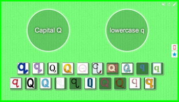Capital and Lowercase Letter Sort