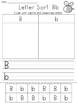 Capital and Lowercase Letter Sort and Write Worksheets