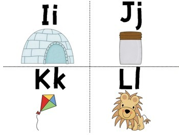 Capital and Lowercase Letters Flash Cards