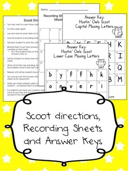 Fall Activities for Kindergarten: Missing Letters