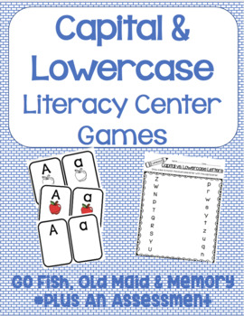 Capital and Lowercase Literacy Center Games