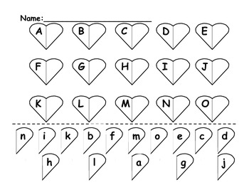 Capital and Lowercase Matching Activity
