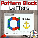 Capital and Lowercase Pattern Block Letter Mats
