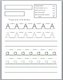 Capital and Lowercase letters handwriting worksheets (3 versions)