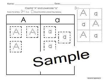 Capital and Lowercase letters sorting activities (31pgs)