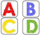 Capital and lowercase ABC's