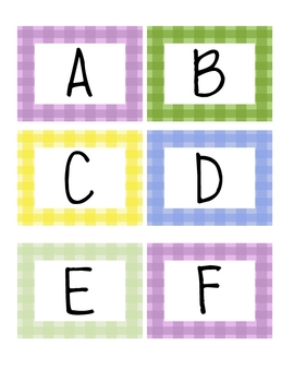 Capital letter tags