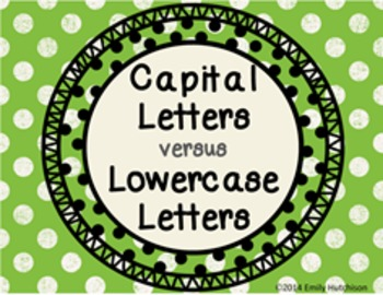 Capital versus Lowercase Letters-Sorts