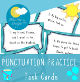 Capitalisation and Punctuation Task Cards - Full stops & commas