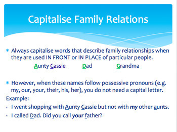 Capitalization and Proper Nouns- Worksheets and PowerPoint