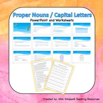 Capital Letters And Proper Nouns Worksheets And Slides Tpt