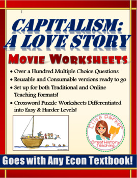 Capitalism A Love Story -- Movie Worksheets and Puzzles