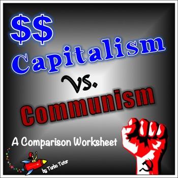 Capitalism vs. Communism Comparison Chart:  Pre-reading To